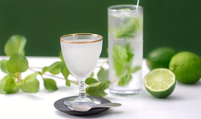 日本酒でモヒート& シャーベット